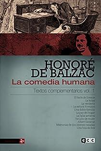 La comedia humana: Textos complementarios volumen 1 par de Balzac