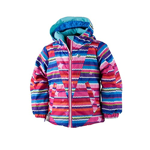 Obermeyer Kids Baby Girl's Ashlyn Jacket (Toddler/Little Kids/Big Kids) Scribble Stripe 5 by Obermeyer Kids