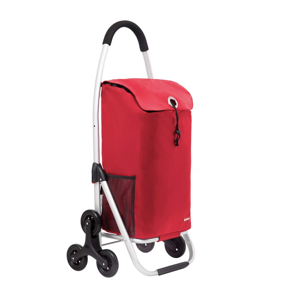 Carro de Compras Carro de Compras de Aluminio Carro de Compras para Ancianos Carro Plegable de Moda Carro de Equipaje de Viaje portátil de Gran Capacidad (Color : Purple)