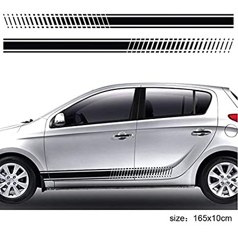 For Hyundai I 20 Side Racing Stripes Car Stickers Graphics