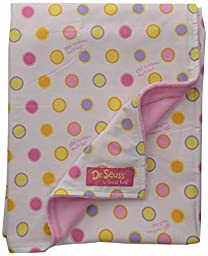 Trend Lab Dr. Seuss Receiving Blanket, Oh, The Places You\'ll Go! Pink