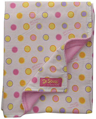 trend-lab-dr-seuss-receiving-blanket-oh-the-places-youll-go-pink