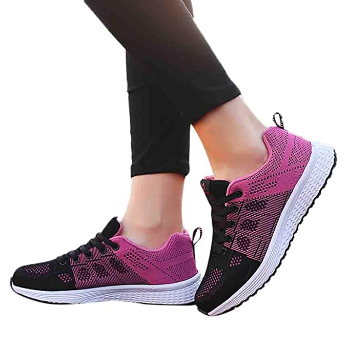 5ecbf164381fe Oliviavan Women's Outdoor Mesh Casual Sports Shoes Breathable Soft ...