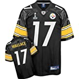 Reebok Pittsburgh Steelers Mike Wallace Super Bowl XLV Replica Jersey Large