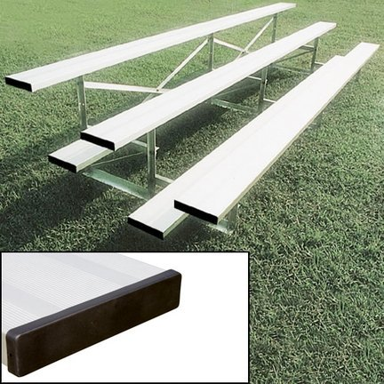 15' Stationary Aluminum Bleachers (3 Rows)