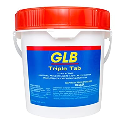 GLB Triple Tab Chlorinating Tablets - 10 lbs by GLB