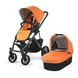2012 Uppa Baby Vista Stroller In Drew (Tangerine/Graphite Frame)