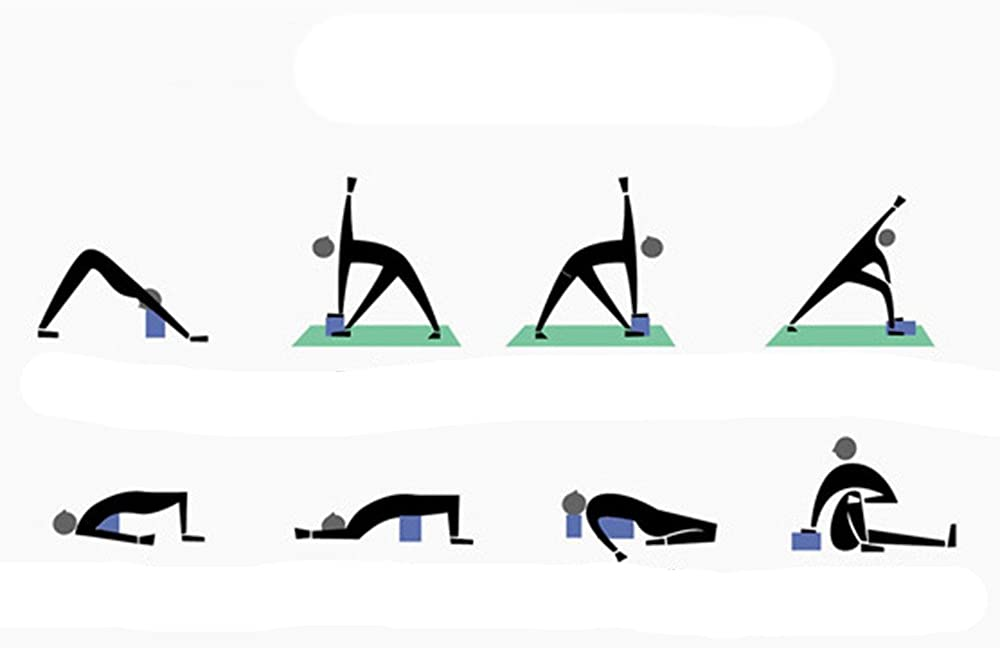 Sanyyanlsy Exercise Fitness Yoga Blocks Soft Foam Bolster Pillow Cushion EVA Meditation Training