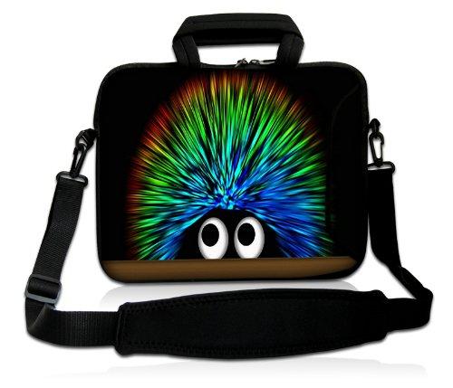 Luxburg® Design Laptoptasche Notebooktasche Sleeve mit Schultergurt und Fach für 15,6 Zoll, Motiv: Igel undercover
