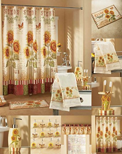Sunflower U0026 Butterflies Bath Decor Tuscan Country Summer Bathroom Ensemble  Collection