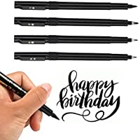 Refill Brush Marker Calligraphy Ink Pens for Beginners (4 Sizes)