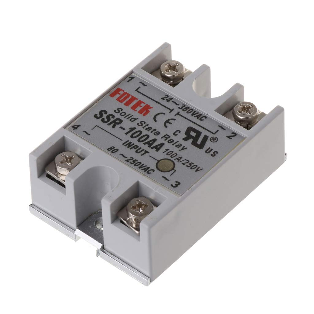LANDUM 24V-380V SSR-100AA 100A DC-AC Single PhraseSolid State Relay Module Temperature Controller Machinery Control Automatic