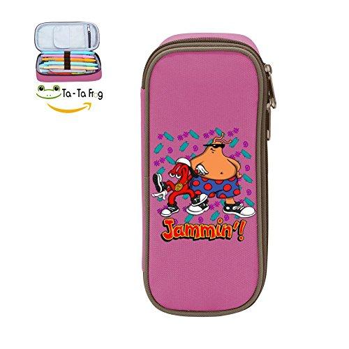 Kids Cartoon Jammin School Pencil Case Pen Bag Pouch for Girls Pink