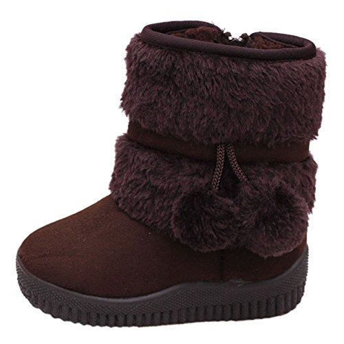- LOSORN ZPY Toddler Baby Boy's Girl's Snow Boot Flat Pom Pom Winter Warm Shoes Ankle Booties (1-7 Years Kids)