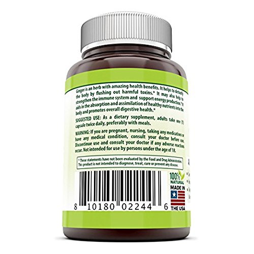 Herbal Secrets Ginger Root Supplement - 550 mg Capsules - Easy to Swallow Capsule - 3 Pack