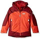 Jack Wolfskin Boys Akka 3In1 Jacket, Lava Orange, Size 128 (7-8 Years)