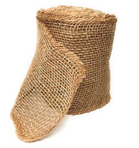 Burlap Ribbon Natural Loose Crafts product image