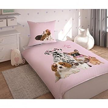 Parure de lit Animaux Chien Chat Lapin   Housse de couette lit 1