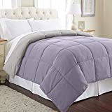 Amrapur Overseas Down Alternative Microfiber Quilted Reversible Comforter/Duvet Insert Ultra Soft Hypoallergenic Bedding-Medium Warmth for All Seasons, Full/Queen, Blue Coral/Oatmeal