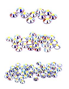 Swarovski 80 Piece Hot Fix Crystals Combo Pack, AB by Create Your Style