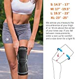 Cambivo 2 Pack Knee Brace, Knee Compression Sleeve Support for Running, Arthritis, ACL, Meniscus Tear, Sports, Joint Pain Relief and Injury Recovery(FDA Approved)
