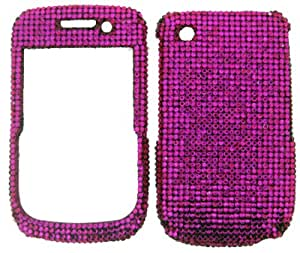 RHINESTONE CELL PHONE COVER PROTECTOR FACEPLATE HARD CASE FOR BLACKBERRY CURVE 8520 8530 9300 HOT PINK SD005