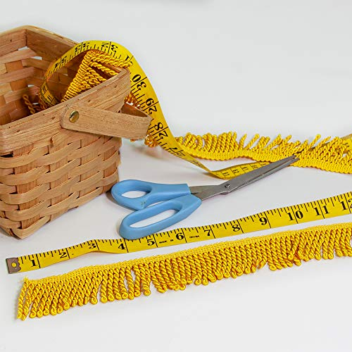 Vispronet Decorative Flag Fringe - 10 Yards of 2in Bullion Fringe Made with 100% Rayon Material - Gold Fringe