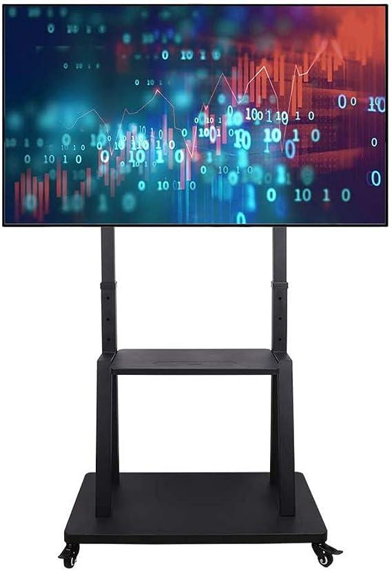UNHO Soporte de Suelo para Televisión 32-100 Pulgadas: Carro TV con Ruedas, Soporte TV Móvil con 2 Estantes, Altura Ajustable 110-140 cm, Carga Máx 80kg VESA 800x600: Amazon.es: Electrónica