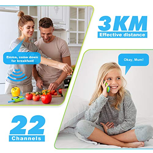 Walkie Talkies for Kids, Birthday Gift Kids Toys for 3 4 5 6-12 Year Old Boys Girls, Long Range 3 KMs 22 Channels 2 Way…