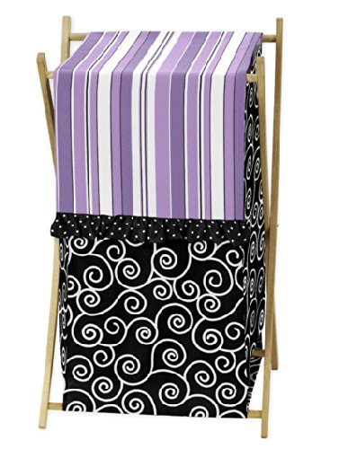 Baby/Kids Clothes Laundry Hamper for Purple and Black Kaylee