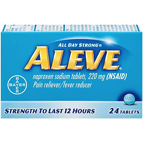 Aleve Pain Reliever/Fever Reducer Tablets, 24 ea (Pack of 3) by Aleve