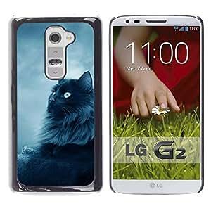 Vortex Accessory Carcasa Funda PARA LG G2 For - Black Persian Cat Nebelung Longhair