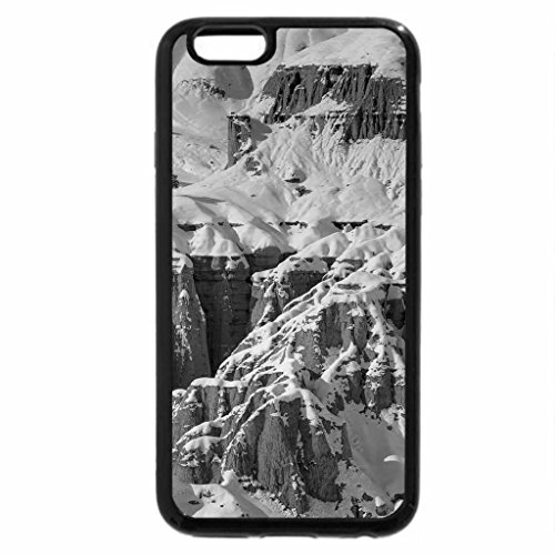 iPhone 6S Plus Case, iPhone 6 Plus Case (Black & White) - Winter in the canyon