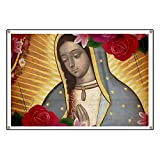 CafePress Virgin Of Guadalupe With Roses - Vinyl Banner, 44''x30'' Hanging Sign, Indoor/Outdoor