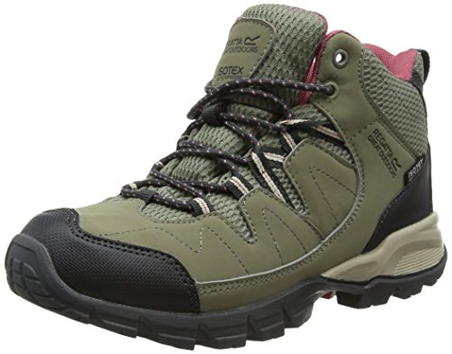 Rise High Decros Ltclo Mid Women's Lady Boots Grey Hiking Regatta Holcombe Iq1Xf