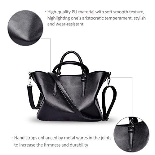 NICOLE&DORIS Nueva Buka Pi compuesto bolsas bolso de la manera minimalista bolso grande White