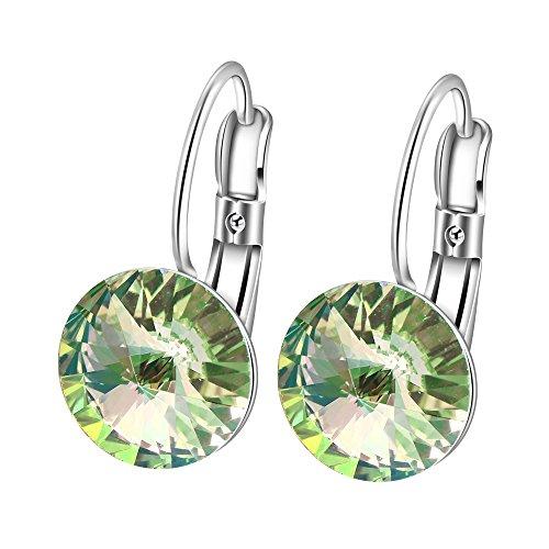 2016 Fashion Platinum Gold Hoop Earrings Crysta...