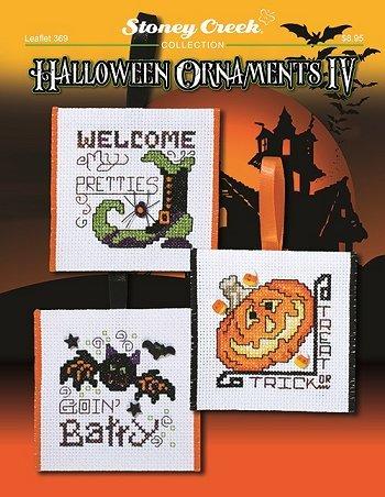 Halloween Ornaments IV (Leaflet 369) Cross Stitch Chart and Free Embellishment]()