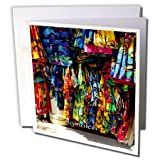 """Image Of Jamaican Hand Woven Clothing Greeting Card is a great way to say """"thank you"""" or to acknowledge any occasion. These blank cards are made of heavy-duty card stock that allows for smudge free writing. Cards are creased for easy folding ..."""