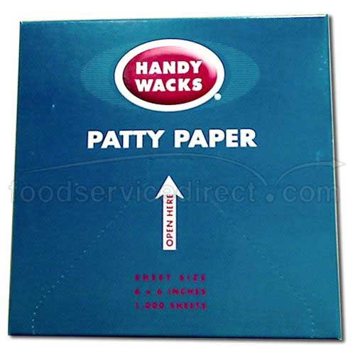 6X6 Patty Paper - 24 case - 1000 count by Handy Wacks (Image #1)