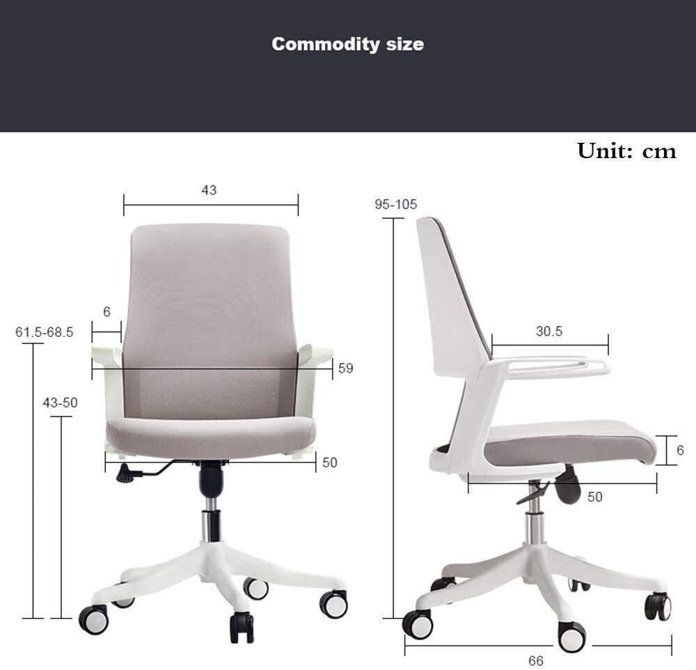 DBL stol hem kontor stol andningsbar nät ryggstöd stol lyft stillasittande är inte trött bärvikt 150 kg skrivbordsstolar (färg: svart) Svart