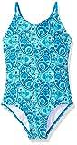 Kanu Surf Girls' Toddler Daisy Beach Sport 1-Piece Swimsuit, Sundance Blue Paisley, 4T