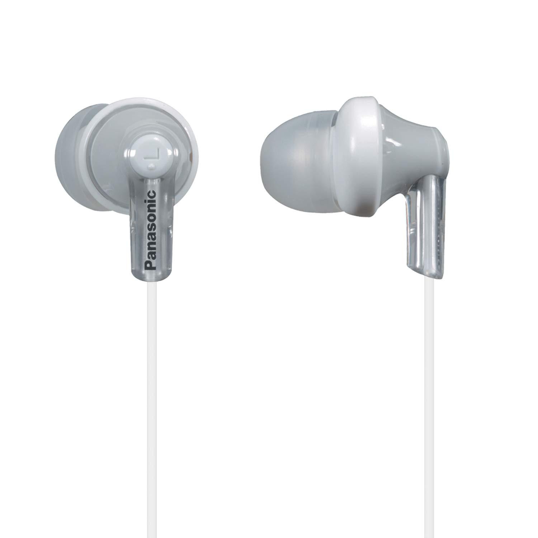 Panasonic ErgoFit In-Ear Earbud Headphones RP-HJE120-S (Silver) Dynamic Crystal Clear Sound, Ergonomic Comfort-Fit