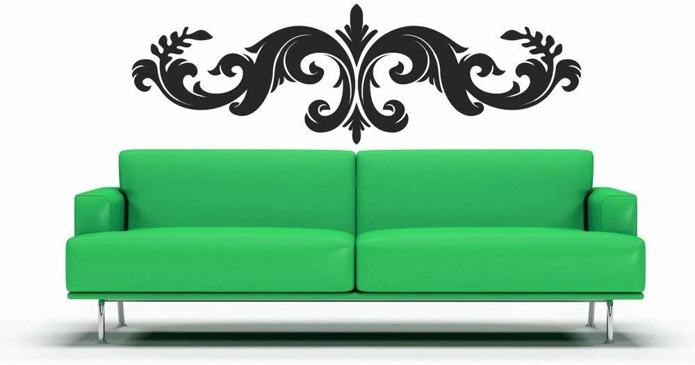 Fleur de lis Wall Decor French Wall Decor Horizontal Art Eurpoean Designs Vinyl Decal Wall Art Decal Home Decor Office Decor Bedroom and Stick Made in USA