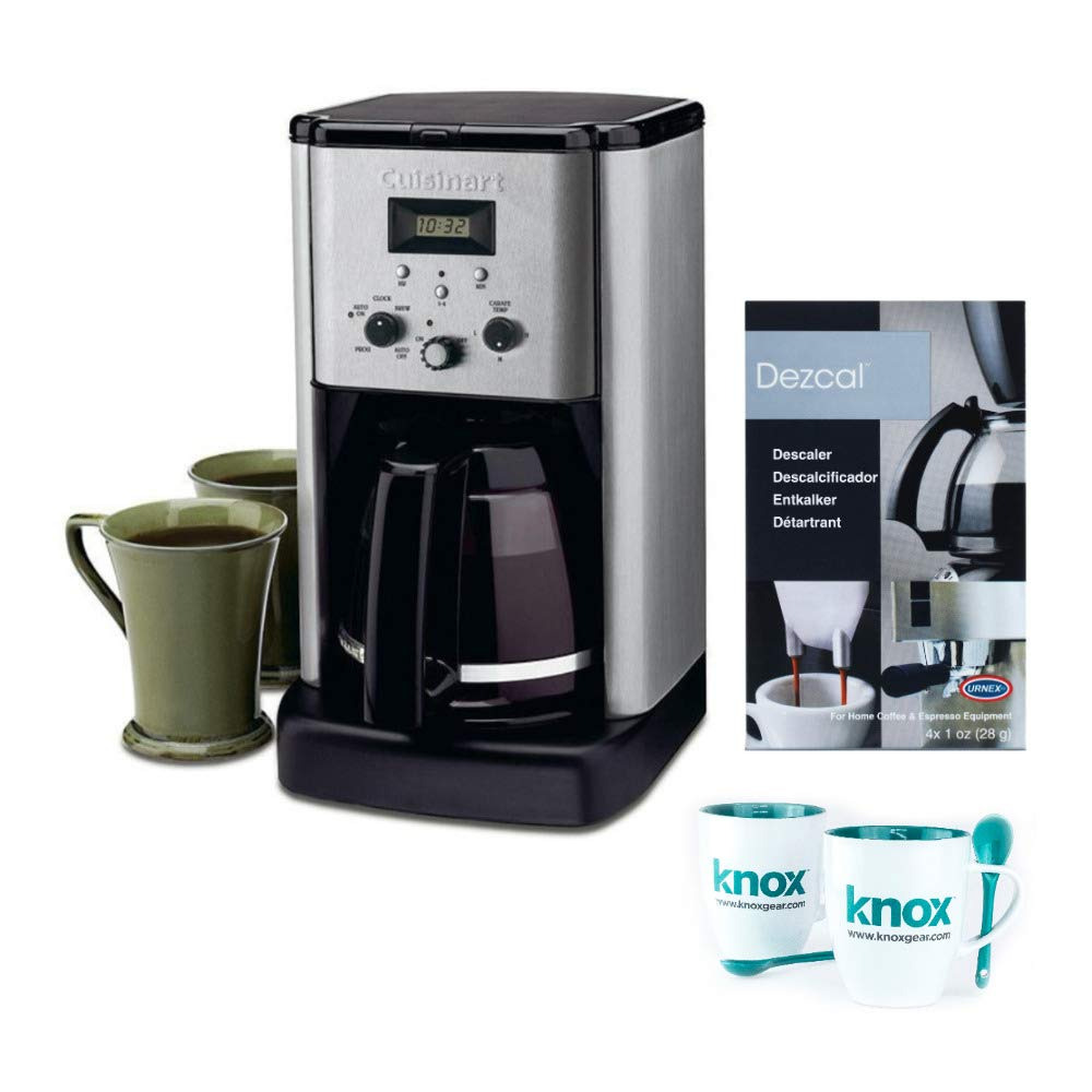 Cuisinart CBC-00FR Brew-Central Programmable 12-Cup Coffeemaker with Descaler and 2 Mugs Bundle (Certified Refurbished)