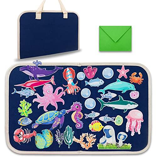 Craftstory Ocean Kids Felt-Board Story Set for Toddlers Travel, Foldable...