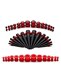 BodyJ4You 42 Pieces Gauges Kit Silicone Plugs with Tapers 8G-12mm Stretching - 21 Pairs