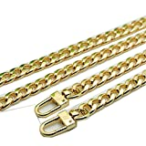 Flat Shape Wide 9mm Golden Chain for Mini Women Bags Replacement Purse Chain/Chain Strap/Chain Purse Strap/Purse Chain Straps DIY (55 inch)