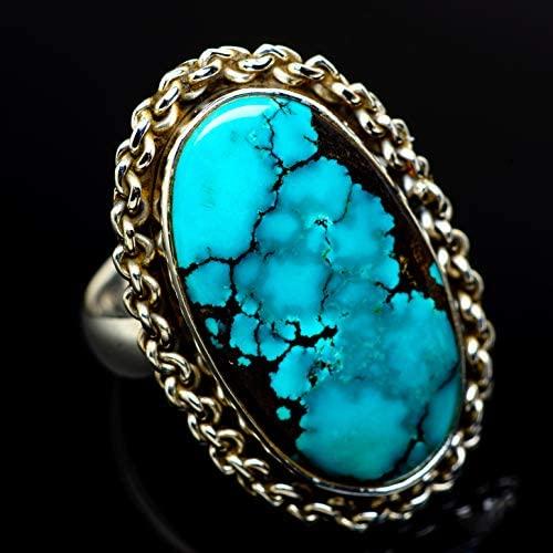 Tibetan Turquoise チベットターコイズシルバー925リング6