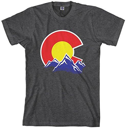Threadrock Men's Colorado Mountain T-shirt L Dark ()